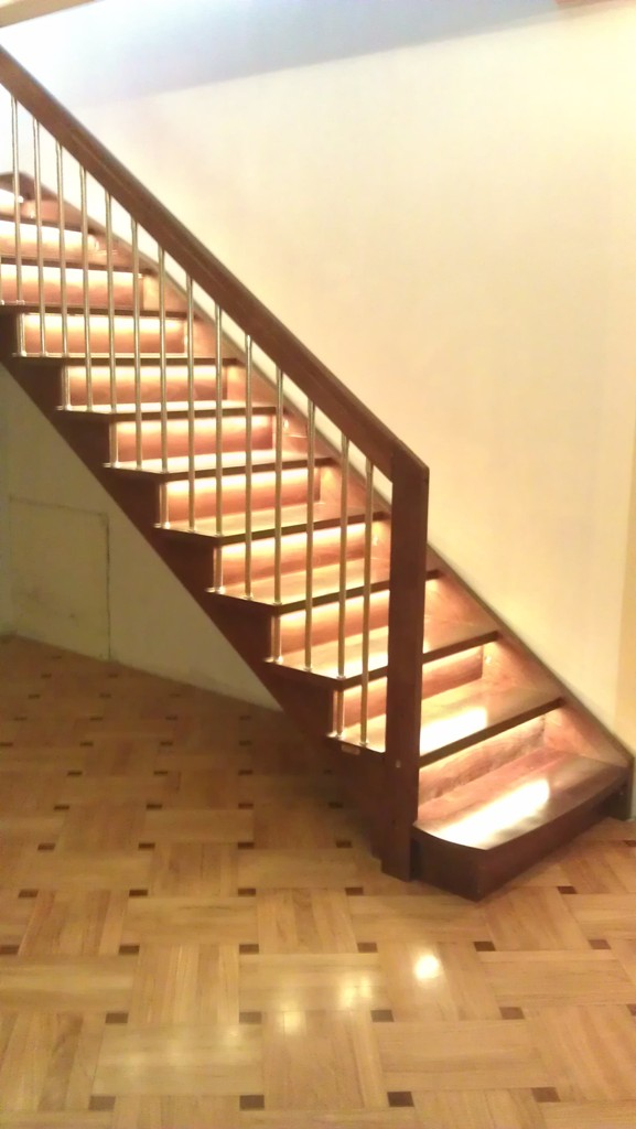 Дървена права стълба-ПРОЕКТ-72-1