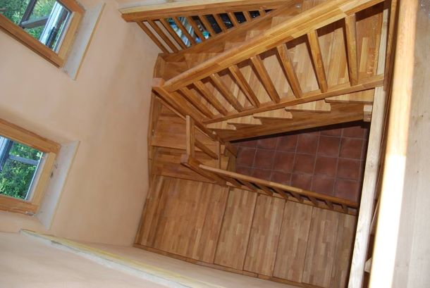 Интериорна дървена стълба-ПРОЕКТ-97-1